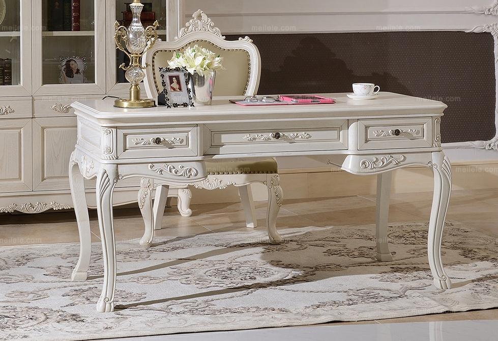 首页 欧式品牌 豪华  欧式田园 养生黄菠萝木框架 精致雕刻 书桌 可选